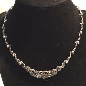 Vintage necklace with semi precious stones